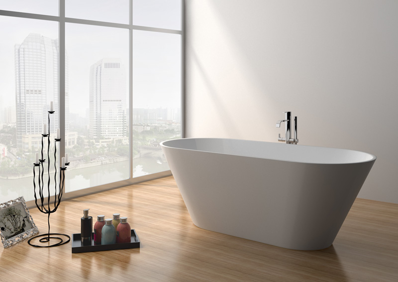 68 Inch Good Quality Modern Solid Surface Freestanding Bathtub JZ8625